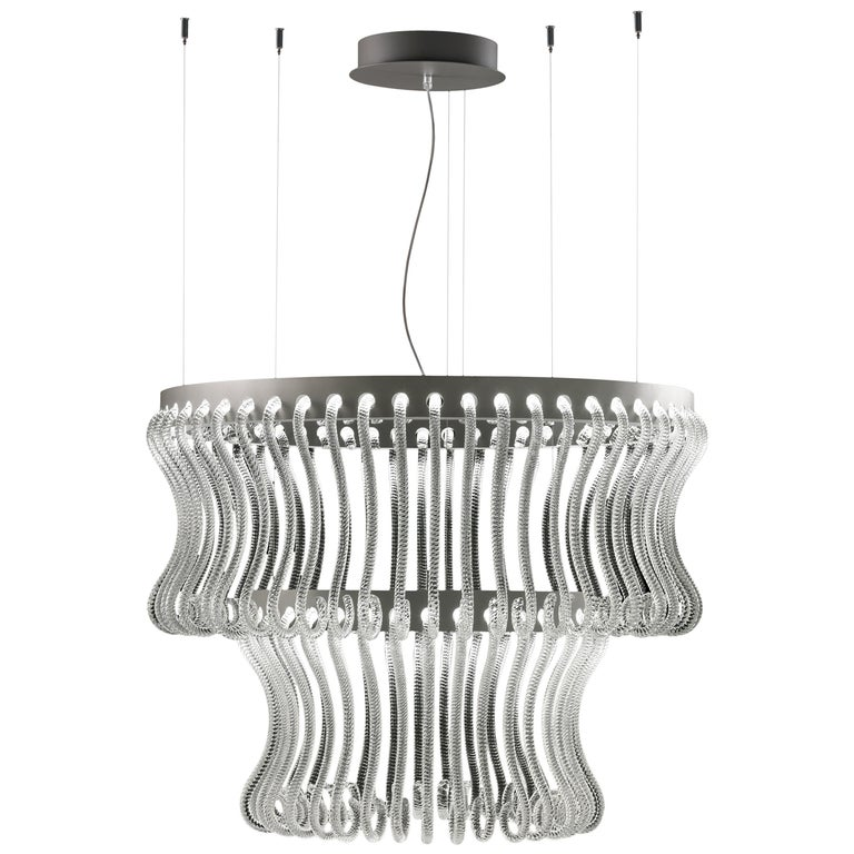Crown 7337 Suspension Lamp in Glass, by Brian Rasmussen from Barovier&Toso For Sale