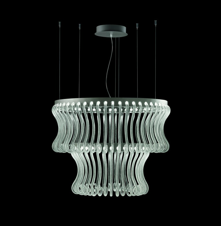 Crown 7337 Suspension Lamp in Glass, by Brian Rasmussen from Barovier&Toso For Sale 4