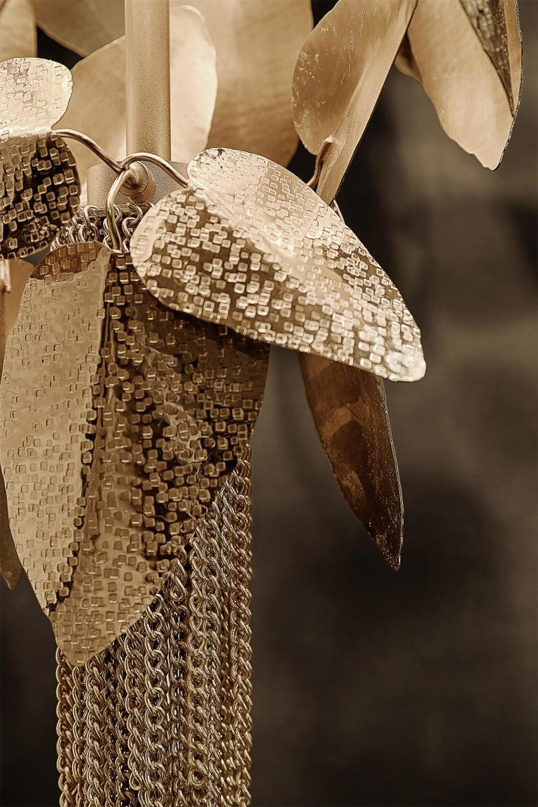 Crown Leaves Floor Lamp With Swarovski Crystal For Sale At