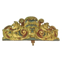 Crown. Polychromed and Carved Wood, 17th Century