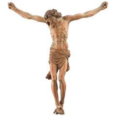 Crucified Christ, Wood, Possibly Granada School, Spain, circa Late 16th Century
