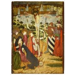 """""""Crucifixion"""" Gothic, Aragonese School, 15th Century"""