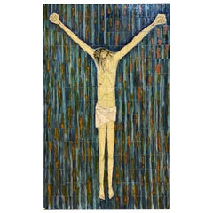 Crucifixion Tile Mosaic Tableau, Italy, 1970s