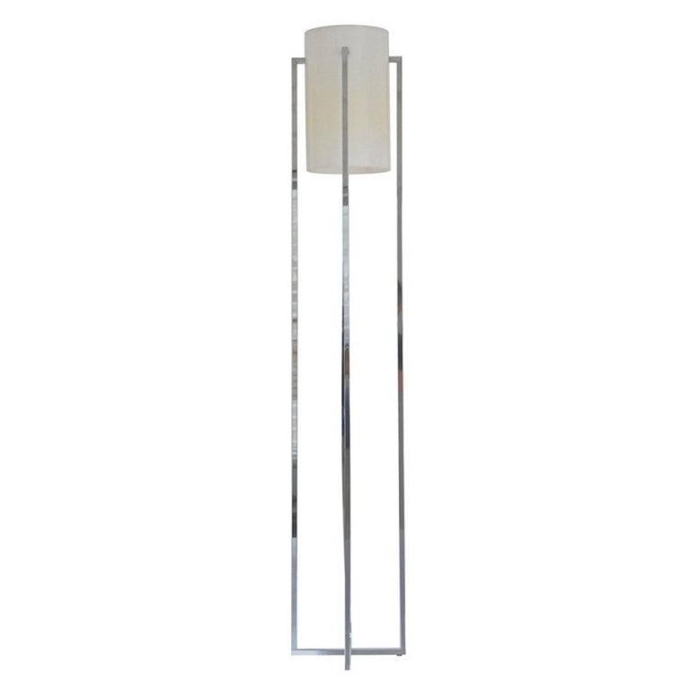 Cruciform Chrome Floor Lamp by Robert Sonneman