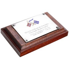 Cruising Club of America Roderick Stephens Jr. Silver and Enamel Plaque