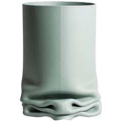Crumpled Steel Pressure Vase by Tim Teven, Medium