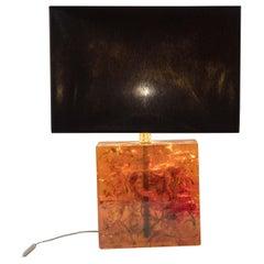 Crushed Ice Resin Lamp by Henri Fernandez