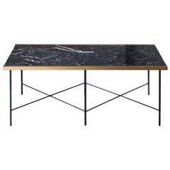 CRUZ Contemporary Coffee Table in Marble and Steel by Ries