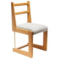 Oak and Mohair Cruz Dining Chair by Lawson-Fenning