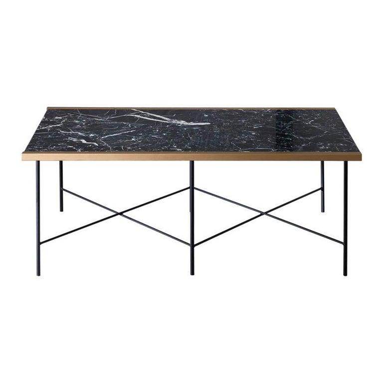 Marble Coffee Table With Metal Legs: Cruz Marble Coffee Table With Steel Legs By Ries For Sale