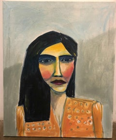 Cruz Ortiz, Untitled, Mexican American contemporary folk art painting