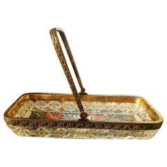 Crystal 18-Karat Gold Tray by Fabergé, Marked