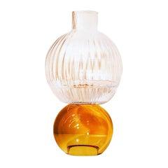 Crystal Ambar Flower Vase by Natalia Criado