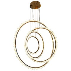 Crystal and Bronze Circles Ceiling Light