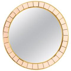 Crystal Arte Midcentury Round Mirror