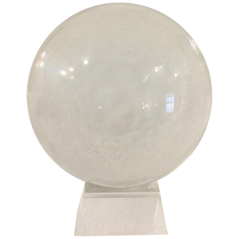 Crystal Ball on Acrylic Stand For Sale