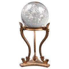 Crystal Ball on Tripod Metal Stand