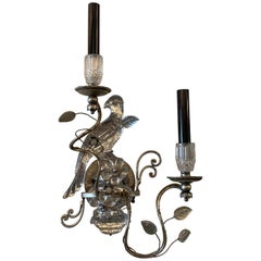 Crystal Bird Sconces