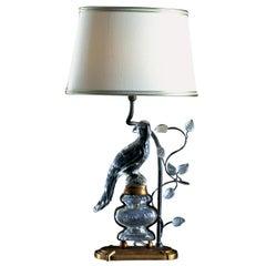 Crystal Bird Table Lamp