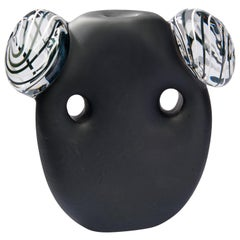 Crystal Black Mask White Ears