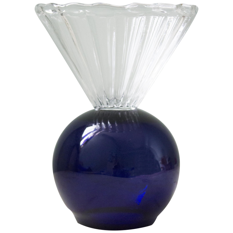 Crystal Blue Cup Vase by Natalia Criado