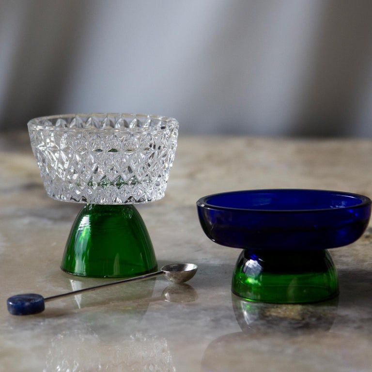 Salt cellars are part of the collection Ambar launched in 2019. A serie of different delicate salt or condiments containers in different sizes. 