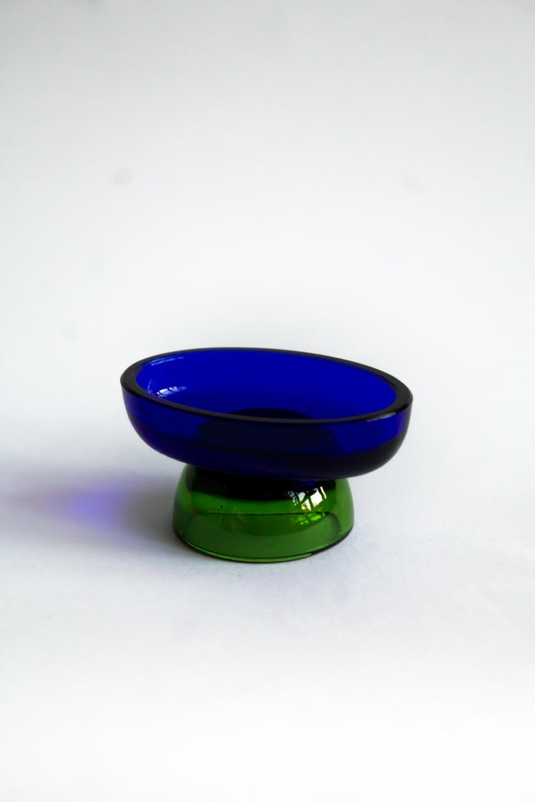 Mid-Century Modern  Salt cellar blue lake by Natalia Criado For Sale