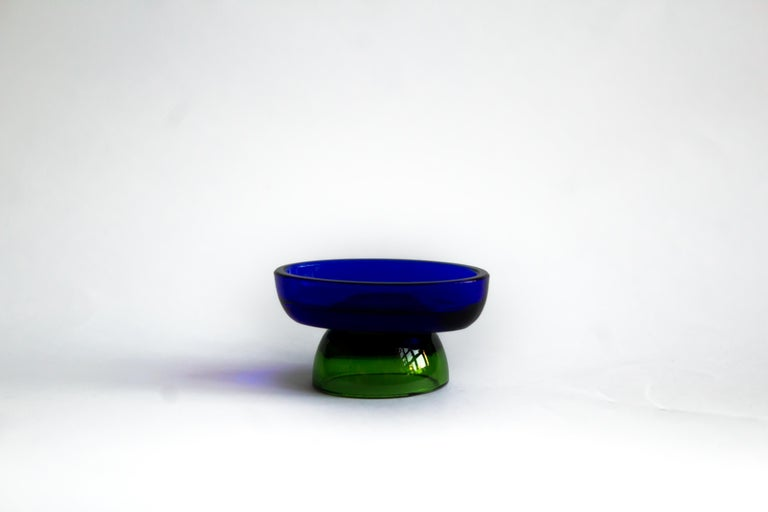 Italian  Salt cellar blue lake by Natalia Criado For Sale