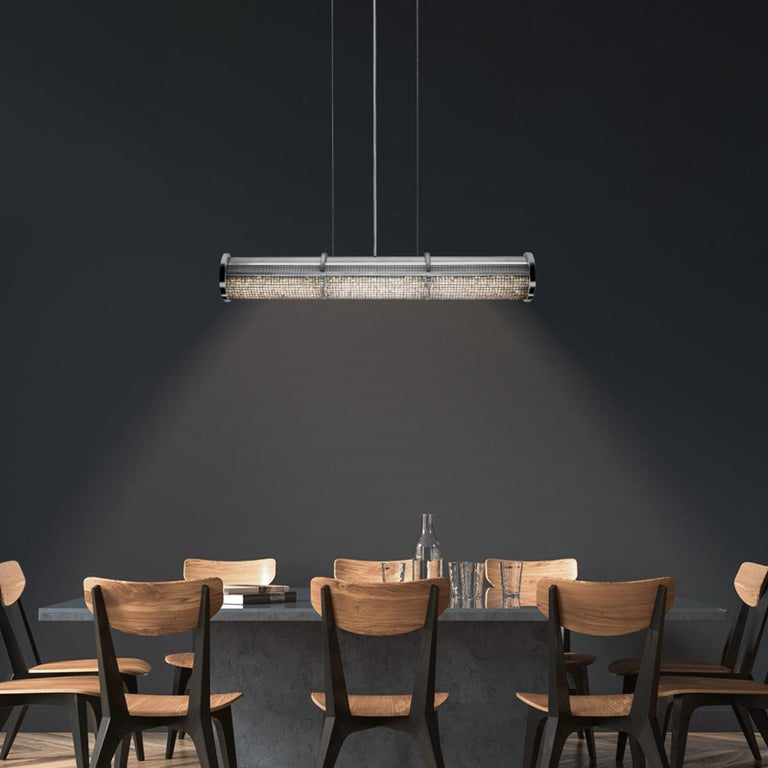 American Crystal Cage LED Linear Suspension For Sale