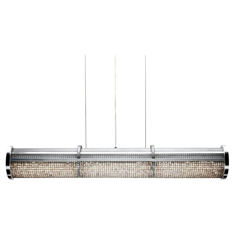 Crystal Cage LED Linear Suspension For Sale