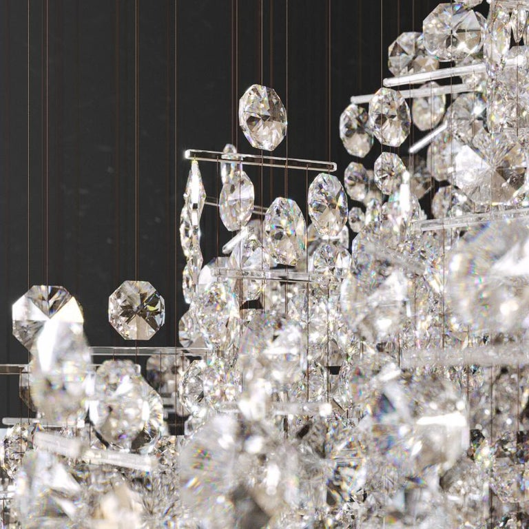 Crystal Candelabra, Contemporary Chandelier Sculpture Eva Menz In New Condition For Sale In London, GB
