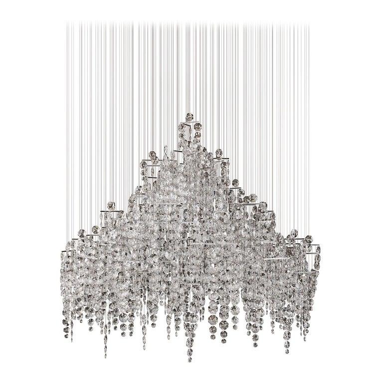 Crystal Candelabra, Contemporary Chandelier Sculpture Eva Menz For Sale