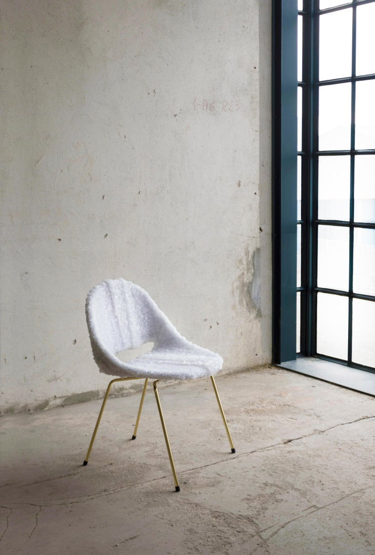 The Crystallized chair is a re-edition of a Belgian Mid-Century Modern chair. This crystallized edition is an ode to timeless design. The design is a tribute to Léon Stynen.