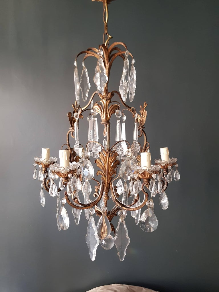 Crystal Chandelier Antique Ceiling Lamp Lustre Art Nouveau  6