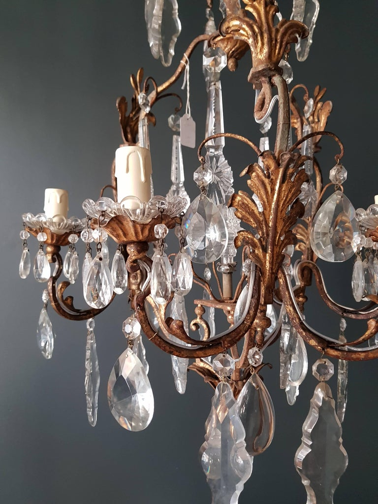 Crystal Chandelier Antique Ceiling Lamp Lustre Art Nouveau  7