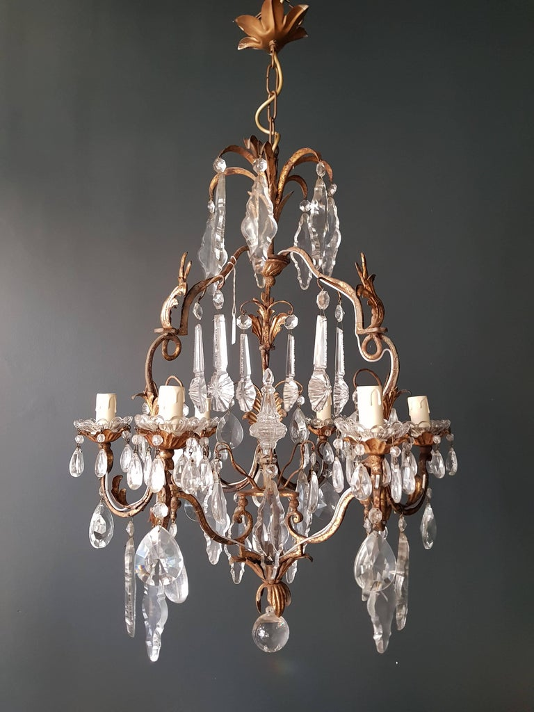 Crystal Chandelier Antique Ceiling Lamp Lustre Art Nouveau  8
