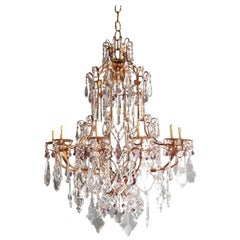Crystal Chandelier Antique Ceiling Lamp Murano Florentiner Lustre Art Nouveau