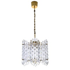 Crystal Chandelier by Carl Fagerlund, Orrefors, 1960s, Large Crystal Lamp