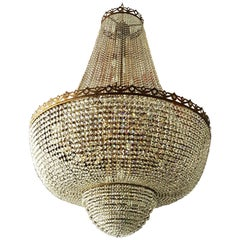 Crystal Chandelier Empire Sac a Pearl Big Large Palace Lamp Chateau Lustre