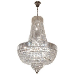 Crystal Chandelier Empire Sac a Pearl Palace Lamp Chateau Lustre Silver