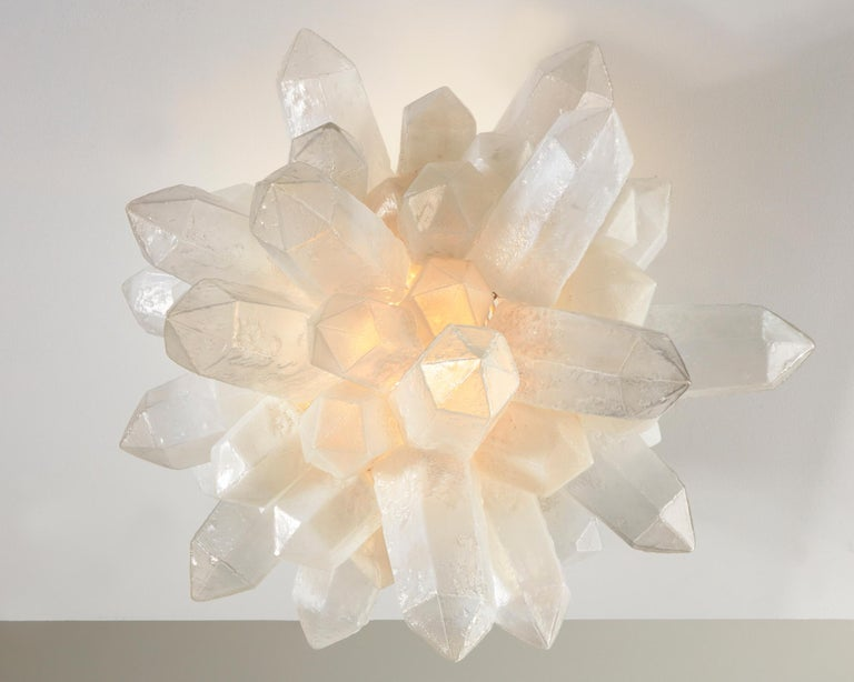 Crystal Cluster Designed by Jeff Zimmerman In New Condition For Sale In New York, NY