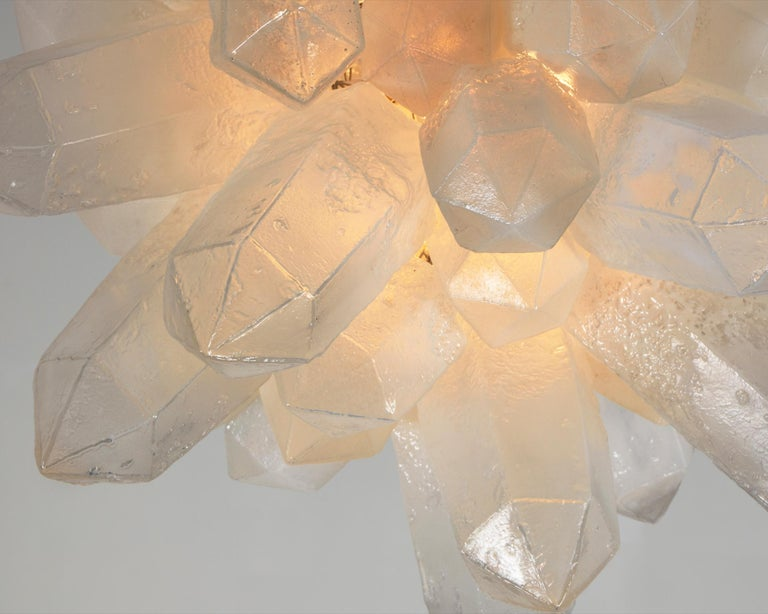 Contemporary Crystal Cluster Designed by Jeff Zimmerman For Sale