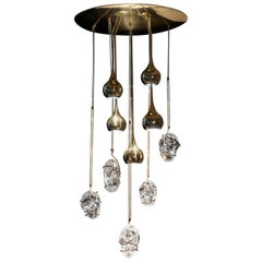 "Crystal ""Cometa"" Chandelier"