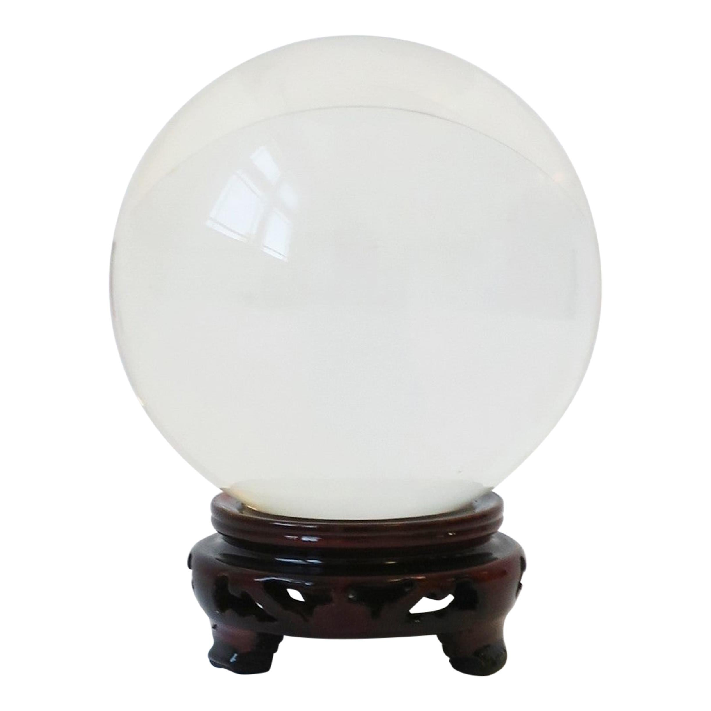 Crystal Decorative Sphere with Base