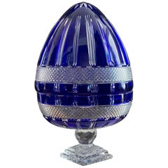 Crystal Egg Champagne Cellar, Lorraine Crystal Glassware, from the 70s'