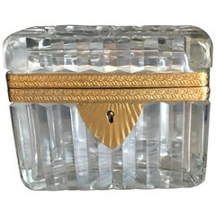 Crystal French Casket Box