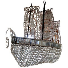 Crystal Galleon Chandelier, Italy, 1950