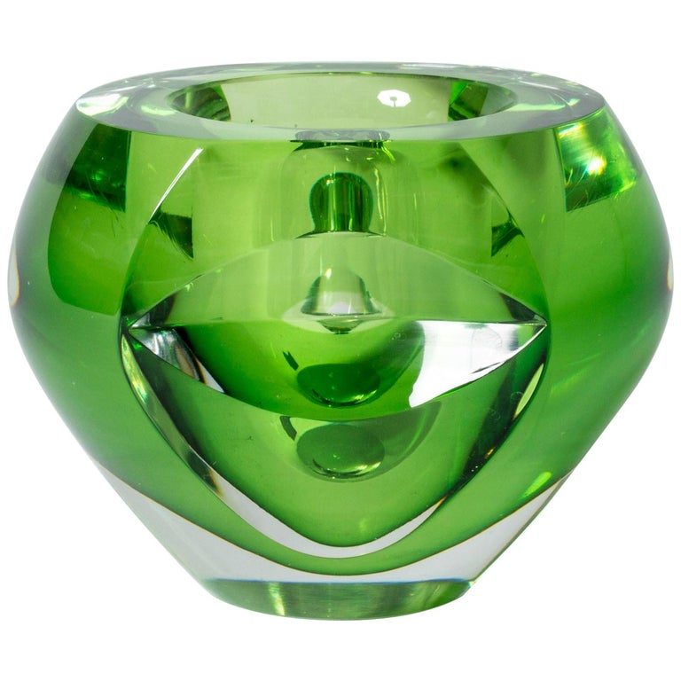 Crystal glass bowl by Mona Morales-Schildt For Sale