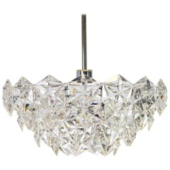 Crystal Glass Chandelier by Kinkeldey, Germany, 1970s