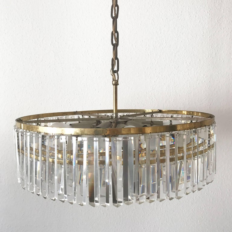 Crystal glass chandelier or pendant lamp by bakalowits and shne mid 20th century crystal glass chandelier or pendant lamp by bakalowits shne vienna aloadofball Choice Image